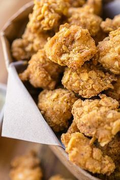 """Crunchy-Baked Garlic """"Popcorn"""" Chicken with Creamy Parmesan-Ranch Dipping Sauce 
