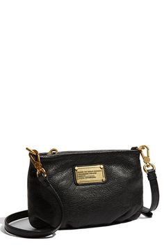 MARC BY MARC JACOBS 'Classic Q - Percy' Crossbody Bag, Small available at #Nordstrom- Black