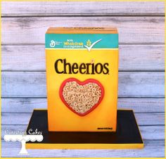 Cheerios box cake www.facebook.com/i.love.cuteology.cakes