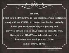 All my love Son xoxox Mama