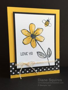 Would you like it to look like you water colored flowers on your cards but you simply stamped them?  The Stampin' Up! Garden in Bloom stamp set makes it easy! You can order this stamp set through my online store and earn free stamps. http://stampandembellish.com/2015/07/convention-swapgarden-in-bloom/