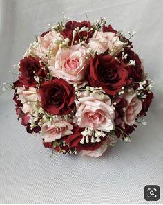 Burgundy And Blush Wedding, Dusty Rose Wedding, Rose Wedding Bouquet, Floral Wedding, Chinese Wedding Decor, Bridal Brooch Bouquet, Prom Flowers, Silk Flower Bouquets, Elegant Wedding