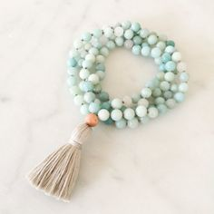 Soothe Mala mala beads mala necklace tassel by Thebeautifulnomad