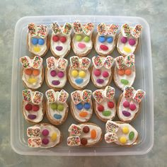 Bunny biscuits - easy snack for Easter