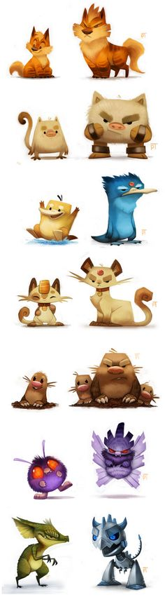 More awesome creature and monster character designs by Piper Thibodeau