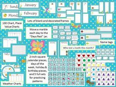 Cute Bug Classroom Calendar Bulletin Board set.  Includes weather charts, hundred chart, place value charts, monthly lost tooth charts, calendar numbers, holiday pieces, pattern pieces. Also includes name tags. Calendar Bulletin Boards, Classroom Calendar, Preschool Bulletin Boards, Classroom Lables, Classroom Themes, Classroom Organization, Tally Chart, Place Value Chart, Tooth Chart