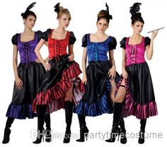 Red Can-Can Saloon Girl Costume | Saloon girl costumes, Western ...