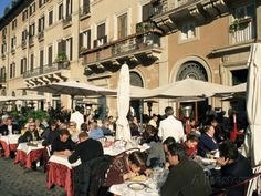 Outdoor Cafe, Piazza Navona, Rome, Lazio, Italy Photographic Print by Sergio Pitamitz at AllPosters.com