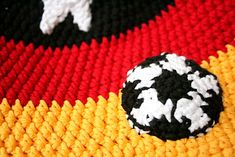 Soccer applique / Fussballapplikation - by elbpudel  Sponsored By: Grandma's Crochet Shop