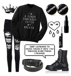 """""""It's been awhile"""" by xxonyx-lightwaterxx ❤ liked on Polyvore featuring Glamorous, Valentino and Tokyo Rose"""