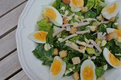 Caeser salad snel klaar er heerlijk voor de lunch!