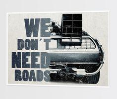 Poster - Ilustração DeLorean por Marlon Hammes