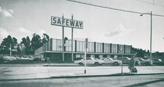 An unusual design at 3434 High Street in Oakland, Calif. (1965) This stylized Safeway supermarket was actually a newly renovated 1950's era store and is still standing, having been occupied by a Walgreens for close to 20 years now.