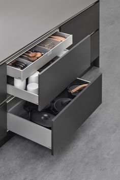 Siematic Aluminium drawers