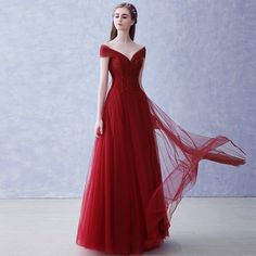 Two Pieces Red Prom Dress, Tulle Off Shoulder Evening Dresses Prom Gowns Choosing the perfect prom dress can be a fun, rewarding process. Backless Prom Dresses, Tulle Prom Dress, Homecoming Dresses, Bridesmaid Dresses, Party Dresses, Bridesmaids, Wedding Dress, Bat Mitzvah Dresses, Off Shoulder Evening Dress
