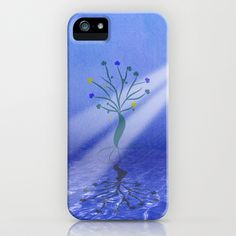 Lone tree in the sea iPhone Case by Viviana González - $35.00