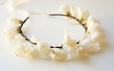 Flower crown, Bridal Hair, Rustic Wedding, Boho Bride, Spring Hair  Lietofiore | www.lietofiore.etsy.com