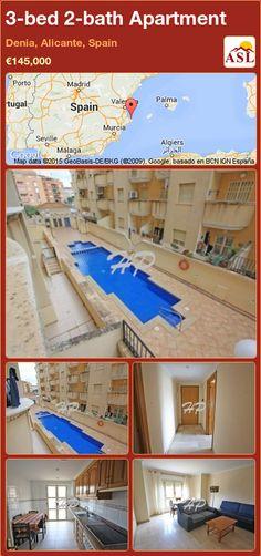 3-bed 2-bath Apartment in Denia, Alicante, Spain ►€145,000 #PropertyForSaleInSpain