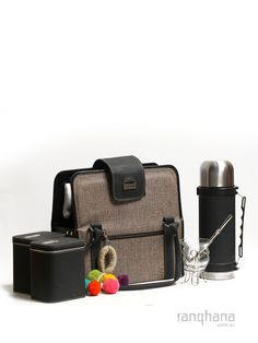 BOLSO MATERO PARA VIAJE CON TERMO Gaucho, Picnic Box, Drinking Tea, Suitcase, Yerba Mate, Workout, Leather, Bags, Camping