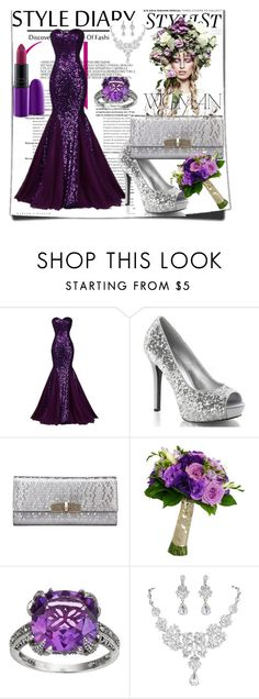 """""""My collection"""" by nashama ❤ liked on Polyvore featuring KAROLINA, Lavish by TJM, MAC Cosmetics and dress"""