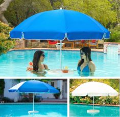A pool umbrella and a bar in one! Genius combination. (Now, if it only came with a waiter...) poolzoom.com