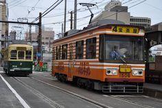 長崎の路面電車(チキンラーメン)
