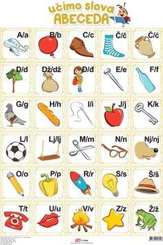 predškola 2015 RADNI LISTOVI - Google pretraživanje Alphabet Activities, Language Activities, Preschool Activities, Croatian Language, Preschool Projects, Alphabet For Kids, Serbian, Petra, Classroom Decor