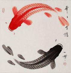 Los peces Koi son muy importantes en las leyendas japoneses porque simbolizan la fuerza, perseverancia, energía y suerte (son puras cosas positivas)