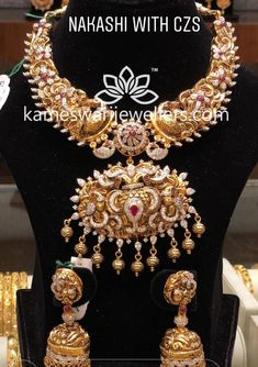 Saved by radha reddy garisa Bridal Jewellery Inspiration, Gold Jewellery Design, Gold Wedding Jewelry, Gold Jewelry Simple, India Jewelry, Necklace Designs, Antique Jewelry, Jewelry Collection, Fashion Jewelry