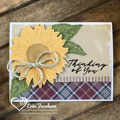 """Sunflower Sympathy Cards """"Easy To Embellished"""" vol 1 – Crafty Concepts with Erin Sunflower Images, Sunflower Cards, Sunflower Gifts, Prim Christmas, Country Christmas, Christmas Trees, Christmas Decor, Ink Stamps, Die Cut Cards"""