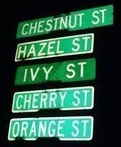 The street signs of Downtown Chico! Check out Pomonawest.com for CHILL apartments near Chico State!