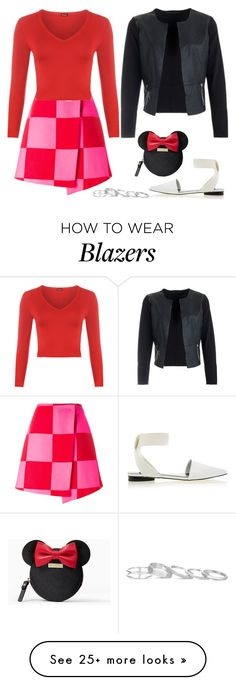 """""""House Call"""" by staysaneinsideinsanity on Polyvore featuring MSGM, WearAll, Senso, Kate Spade, Kendra Scott and IWearPinkFor"""