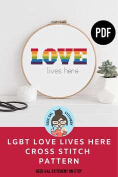 Your place to buy and sell all things handmade Easy Cross Stitch Patterns, Simple Cross Stitch, Cross Stitch Designs, Pansexual Pride, Lgbt Wedding, Lgbt Love, Rainbow Pride, Digital Pattern, Gay Pride