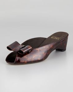 4fee0a438f1 Patent Leather Slip-On Mule by Stuart Weitzman at Neiman Marcus. Slip On  Mules