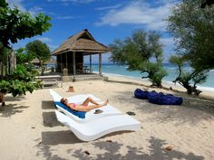 Lounging by the Gili E Bar
