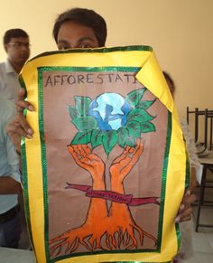 """The exhibition of  posters by the 1st year students  on  various topics related to the Environmental Study with emphasis on """"Wild-Life-and-its-Protection-GNIT""""  in their respective classrooms from 12:30 PM onwards on 12.11.14"""