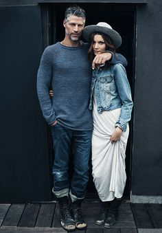 Bryan Randall (with model Jana Stella) posed for Kinfolk magazine in 2011. [Credit: Anais & Dax/AUGUST]