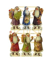 Old Time Santa Scraps ~ Germany
