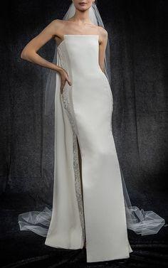 Elizabeth Kennedy Bridal Column Gown at Moda Operandi (affiliate link)