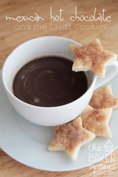 mexican hot chocolate and pie crust cookies // the baker upstairs http://www.thebakerupstairs.com