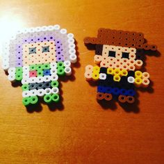 Buzz and Woody - Toy Story perler beads by cutesyclay101