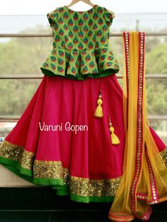 To buy this outfit Mail to varunigopen WhatsApp 9849125889 Frocks For Girls, Dresses Kids Girl, Kids Outfits, Baby Dresses, Pageant Dresses, Baby Outfits, Kids Indian Wear, Kids Ethnic Wear, Kids Dress Wear