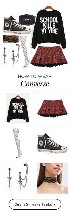 """Untitled #613"" by marythedemon on Polyvore featuring Forever 21, Topshop and Converse"