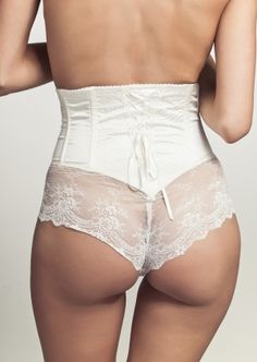 Cadolle | Rachel with Lace | High-waist Brief | Ivory | Silk & Lace | Luxury Brief | Shapewear 7