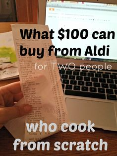 The Sustainable Couple: What $100 at Aldi's Can Buy for 2 People Who Cook From Scratch.