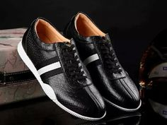 Bally Frenz Crocodile Leather Trainer Black