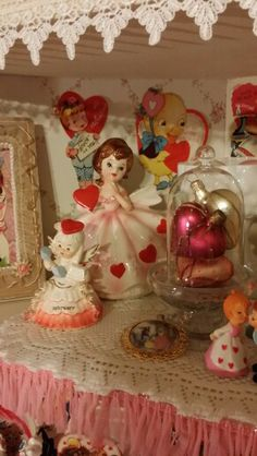 Vintage Valentines decorations...