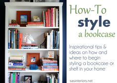 how-to style a bookcase