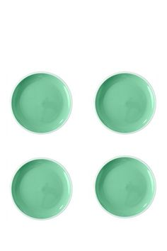 "Image of Home Essentials and Beyond 8"" Mint Salad Plate - Set of 4"