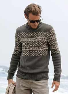 The Nordic sweater is back! Outfits Casual, Mode Outfits, Men Casual, Best Suits For Men, Cool Suits, Nordic Sweater, Men Sweater, Sewing Baby Clothes, Fair Isle Knitting Patterns